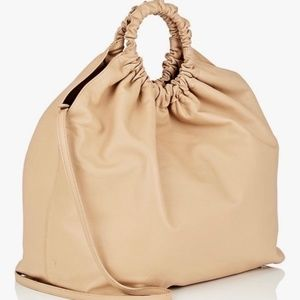 The Row XL Double Circle Leather ShoulderTote Bag